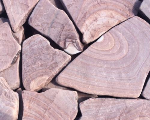 Песчаник обожженный галтованный