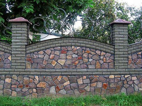 материалы для Забора из природного камня